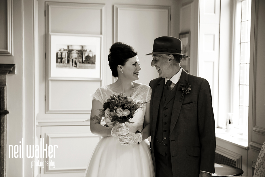 the bride & her father