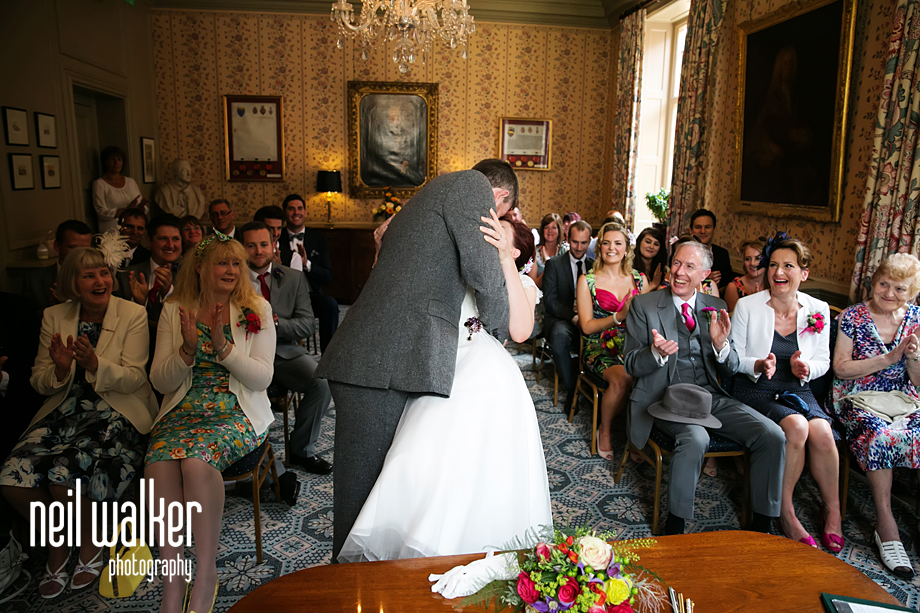 groom kissing the bride
