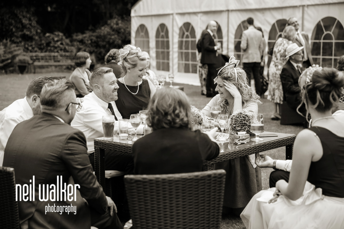 guests talking