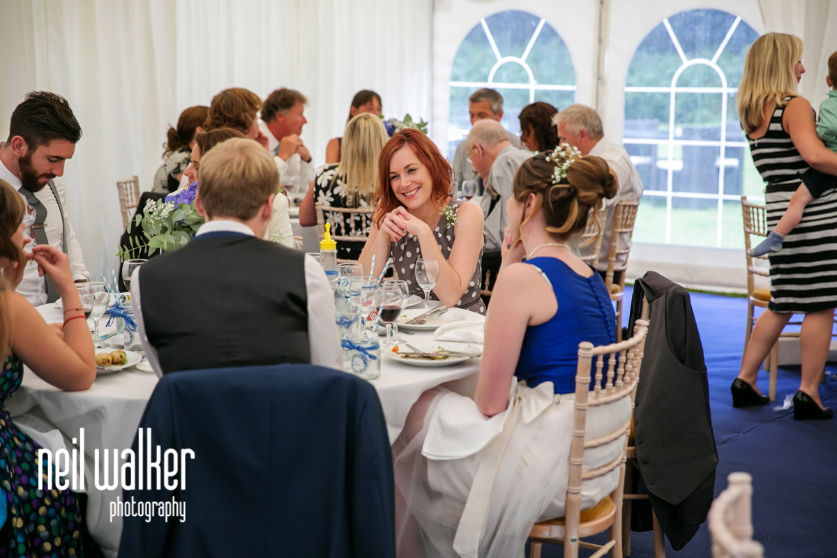 guests seated at tables