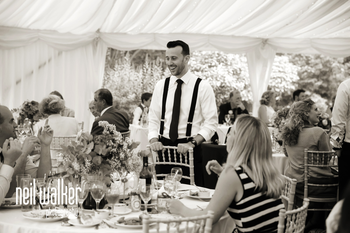 brother of the bride talking