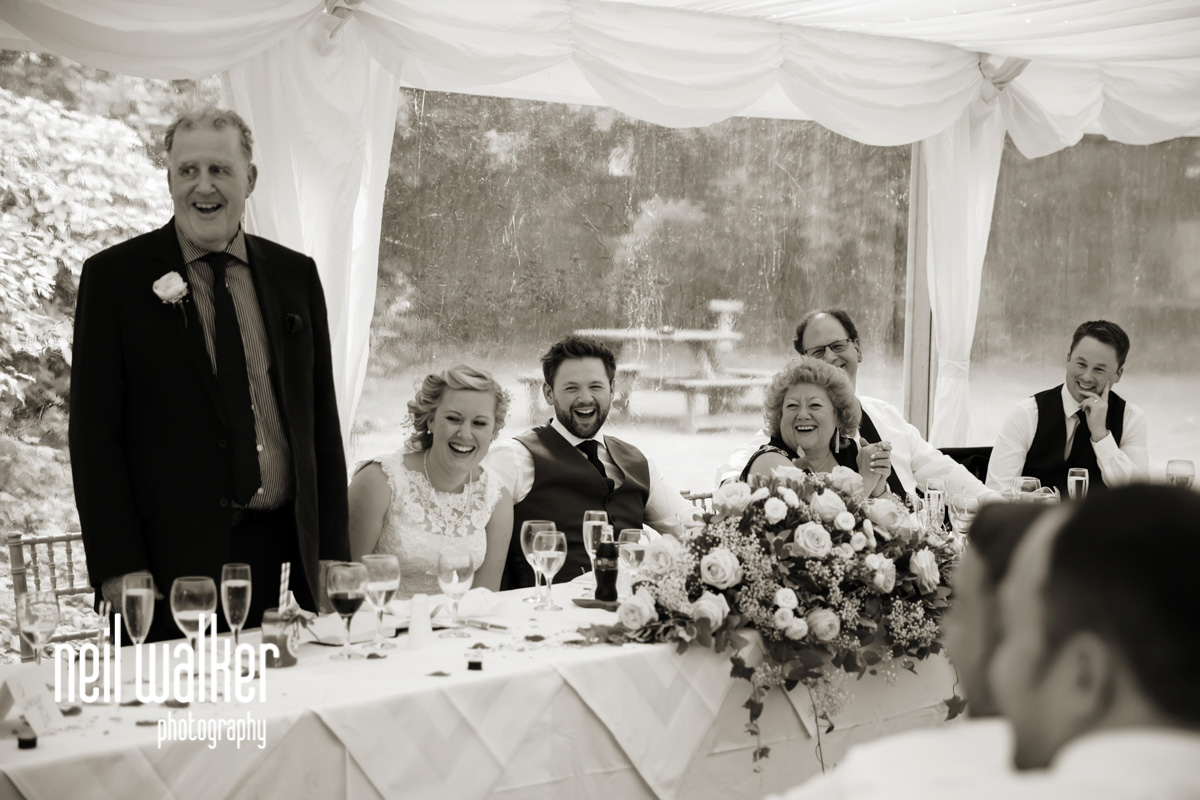 people on the the top table laughing