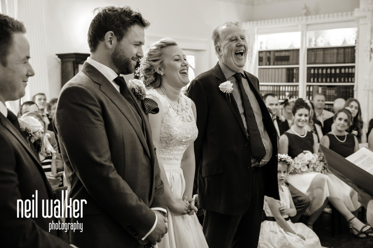 the groom, bride & father of the bride