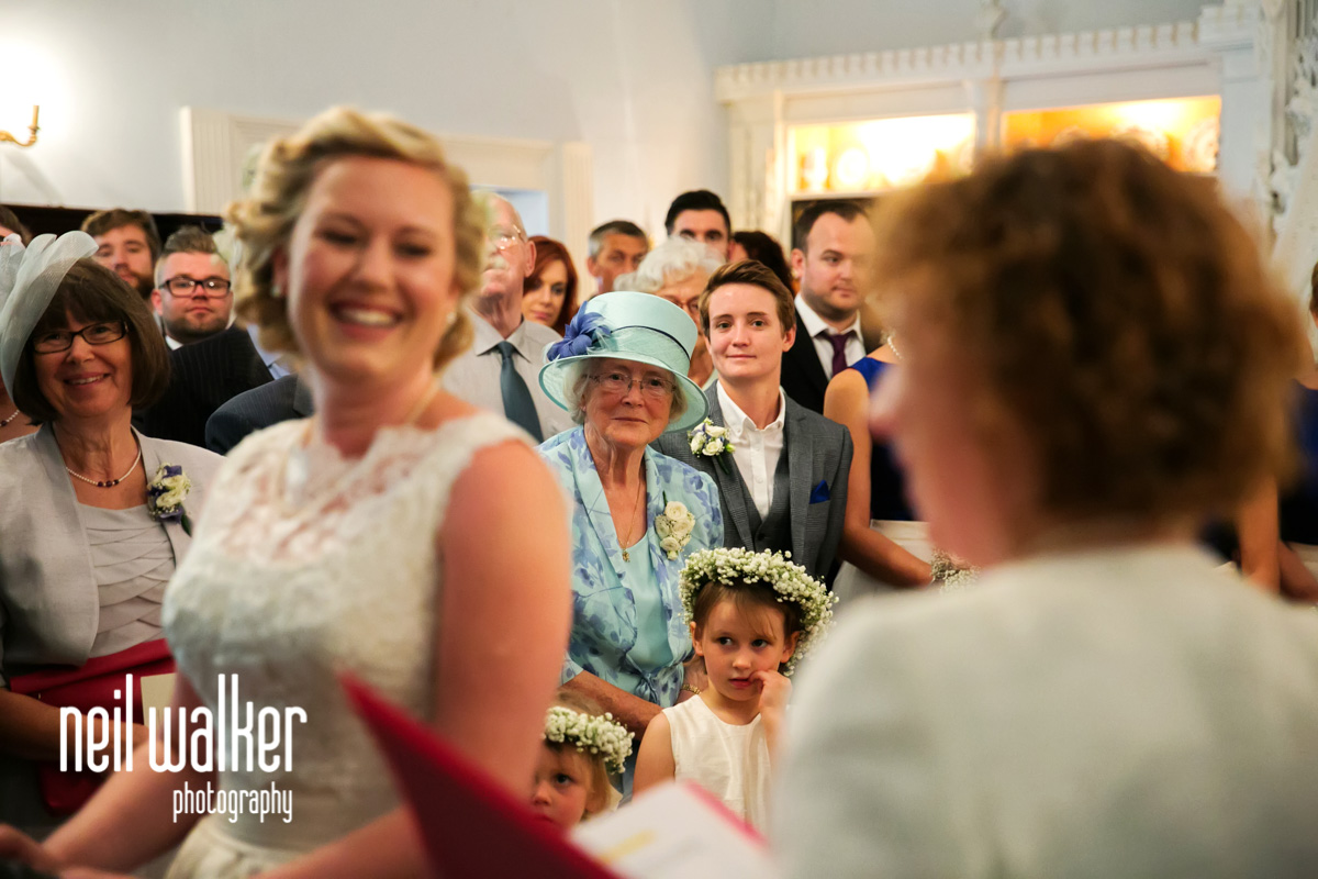 bride's grandmother watching as she gets married