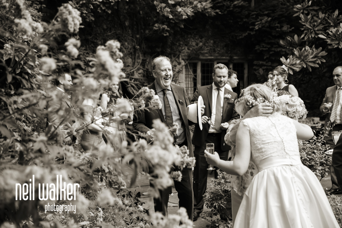 guests congratulating the happy couple