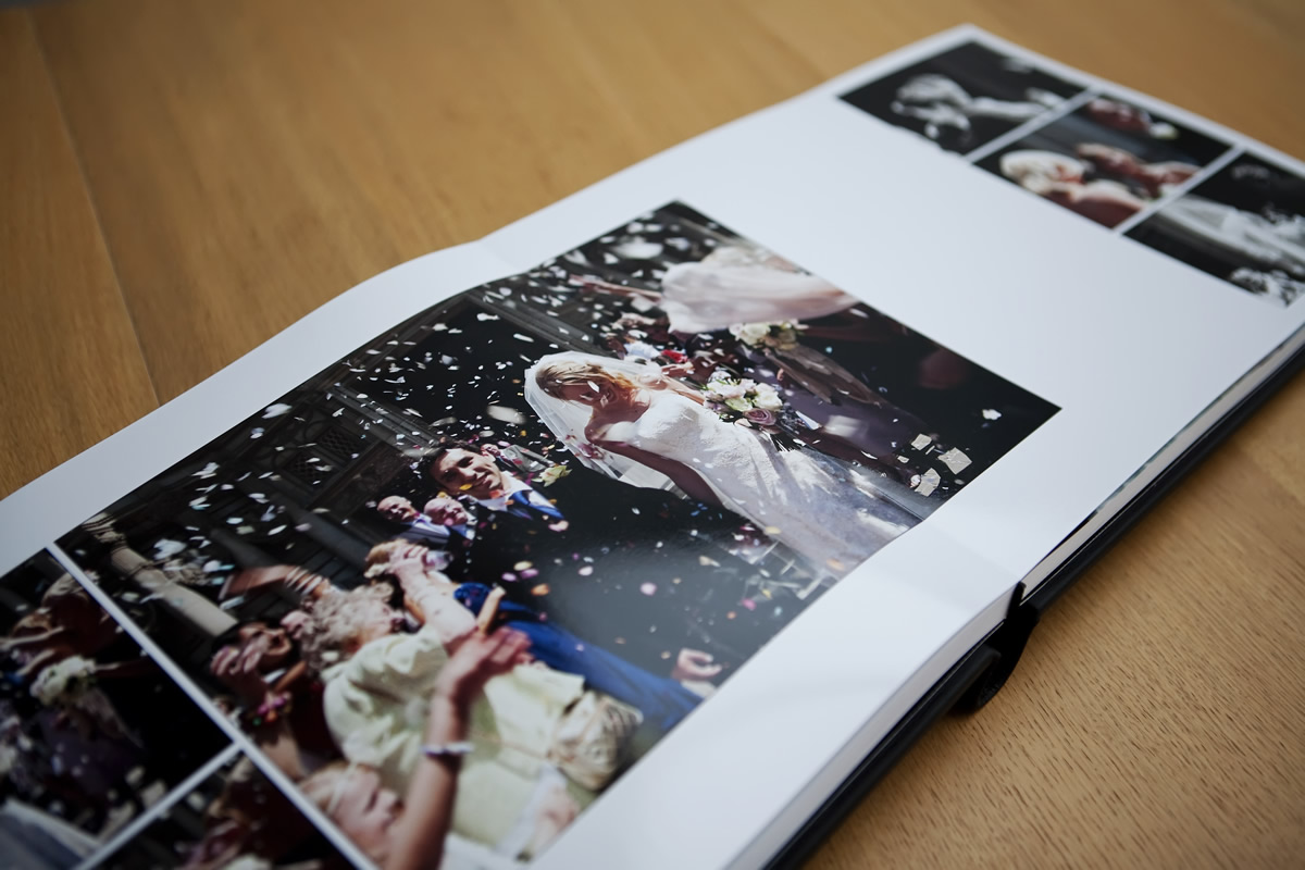 graphi italian leather bound wedding albums
