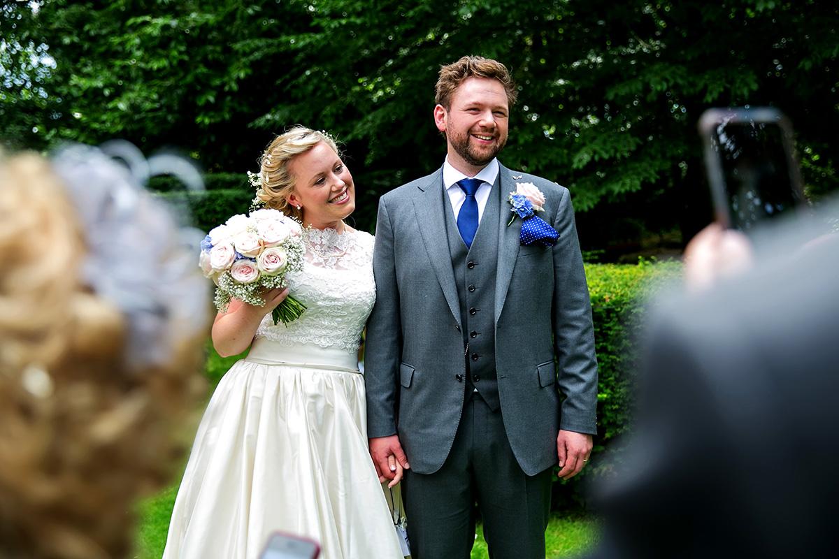 bride & groom at a Sussex marquee wedding
