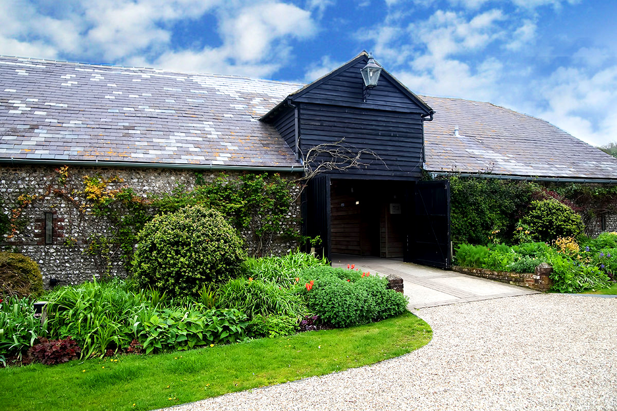 the exterior of Upwaltham Barns