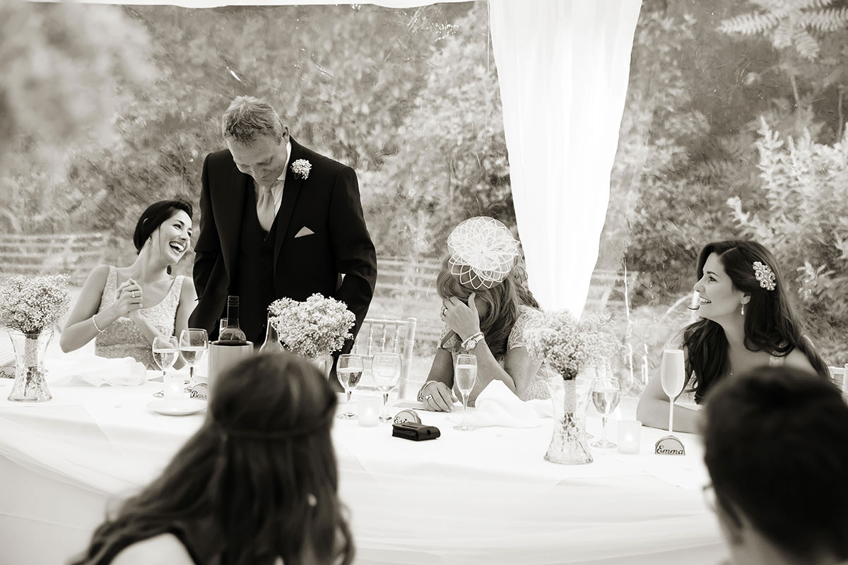 the father of the bride's speech at a Findon Manor wedding