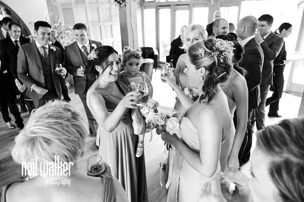 guests congratulating the bride