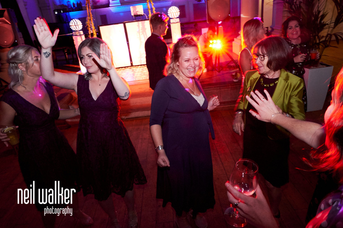 guests dancing at a St Paul's Worthing wedding