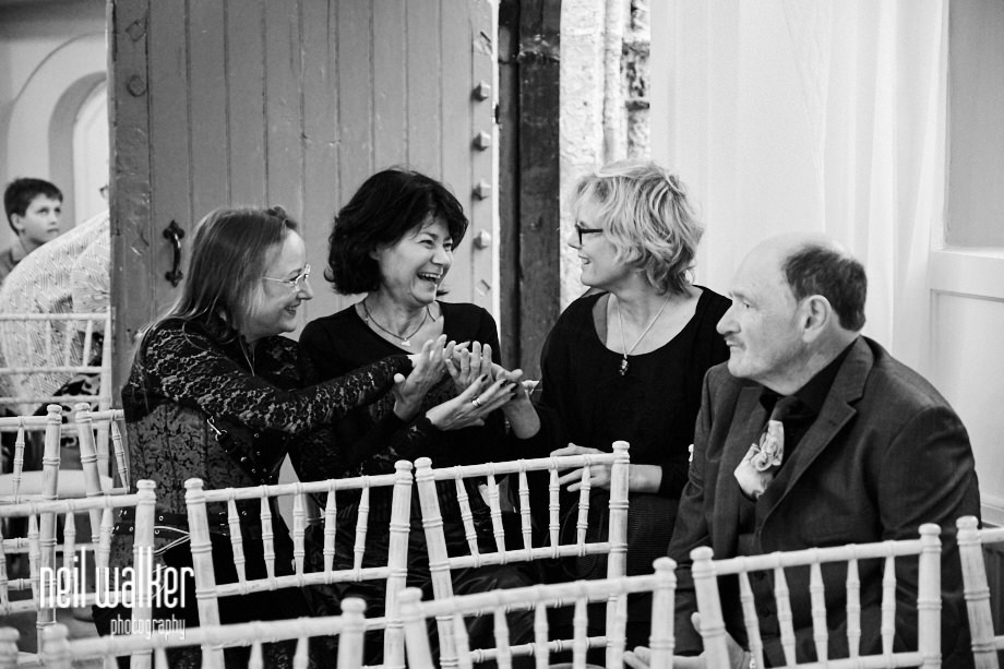 guests talking and laughing