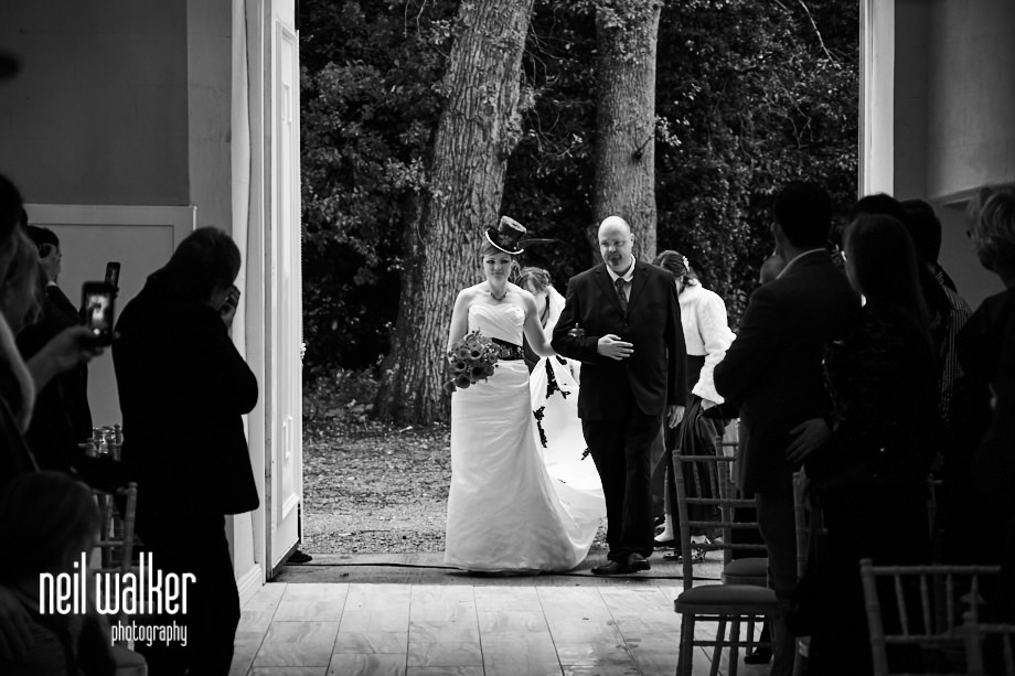 the bride entering the ceremony