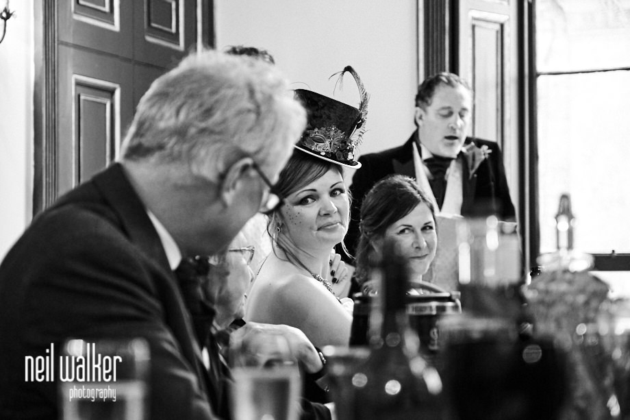 the bride looking at the groom
