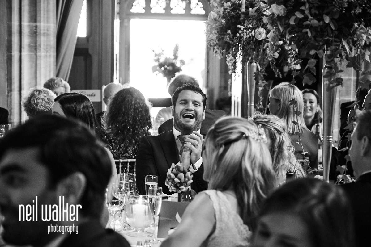 the best man laughing at the father of the bride speech