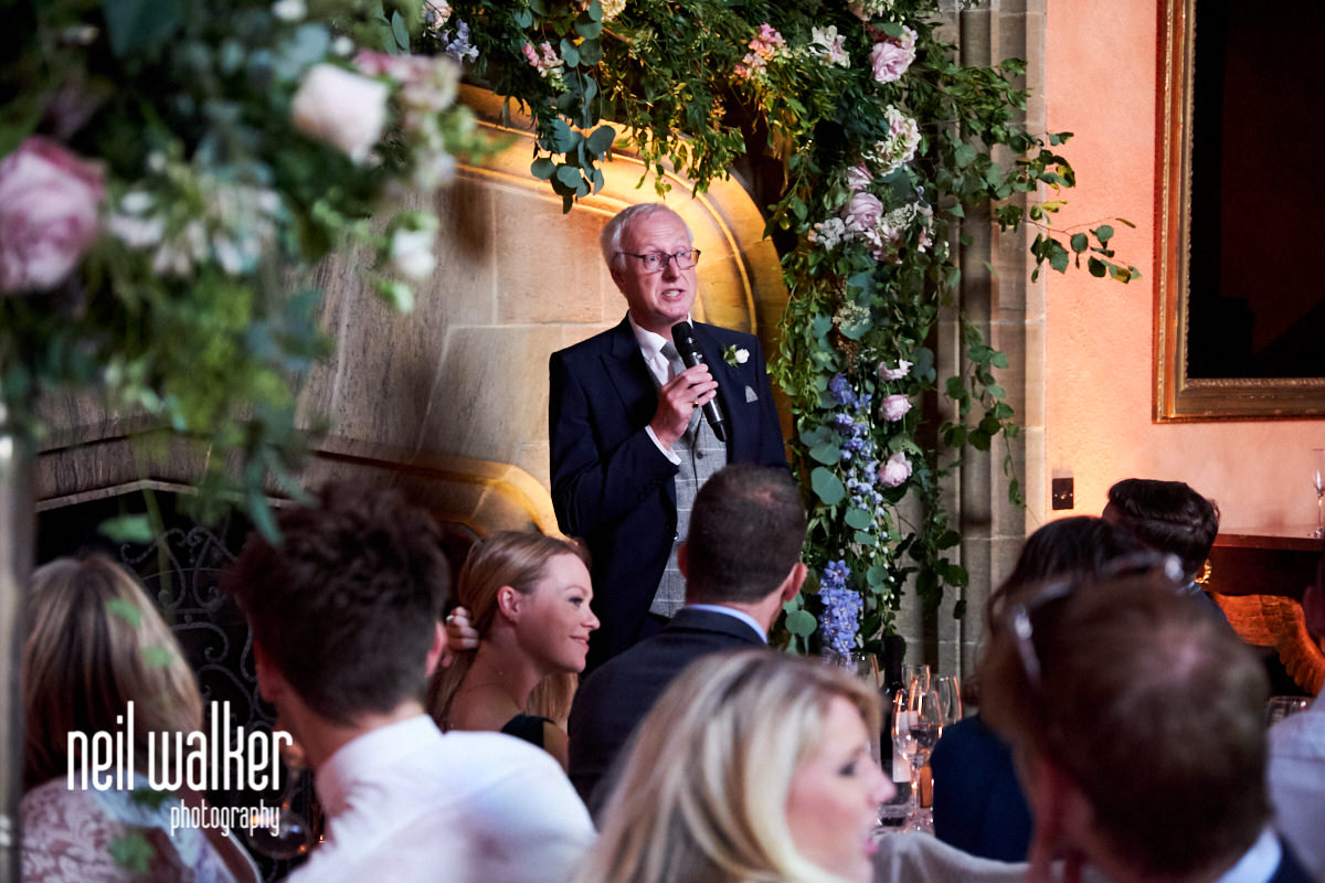 the father of the bride speaking