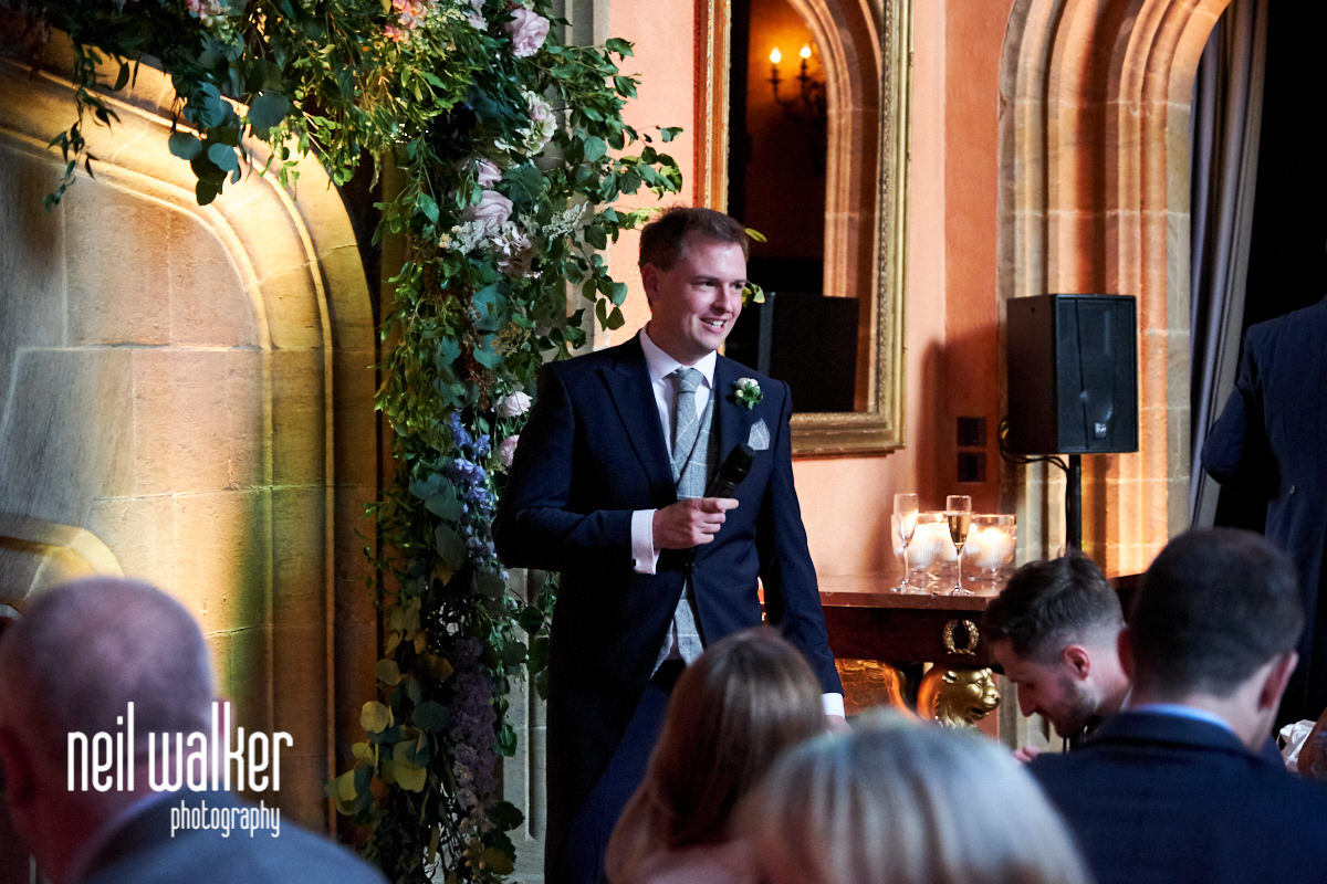 the groom's speech at a Cowdray House wedding