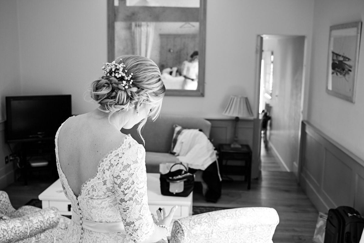 the bride in the bridal suite