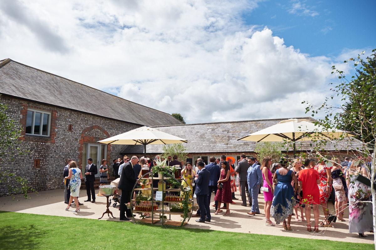 Farbridge Barns wedding venue on a beautiful sunny day