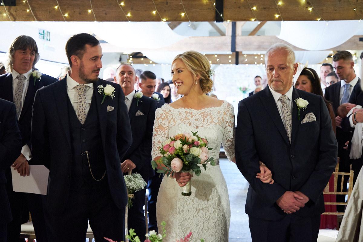 the groom seeing his bride