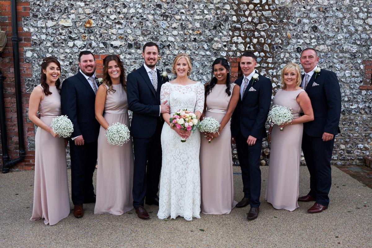 wedding group shots at a barn wedding