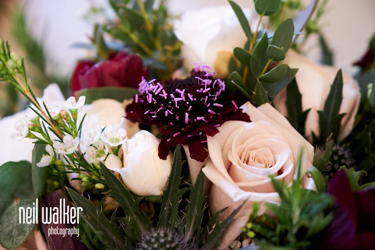 close up of the wedding flowers