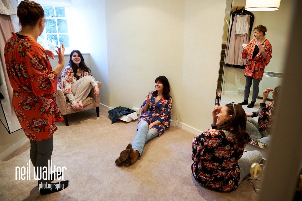 the bridesmaids talking