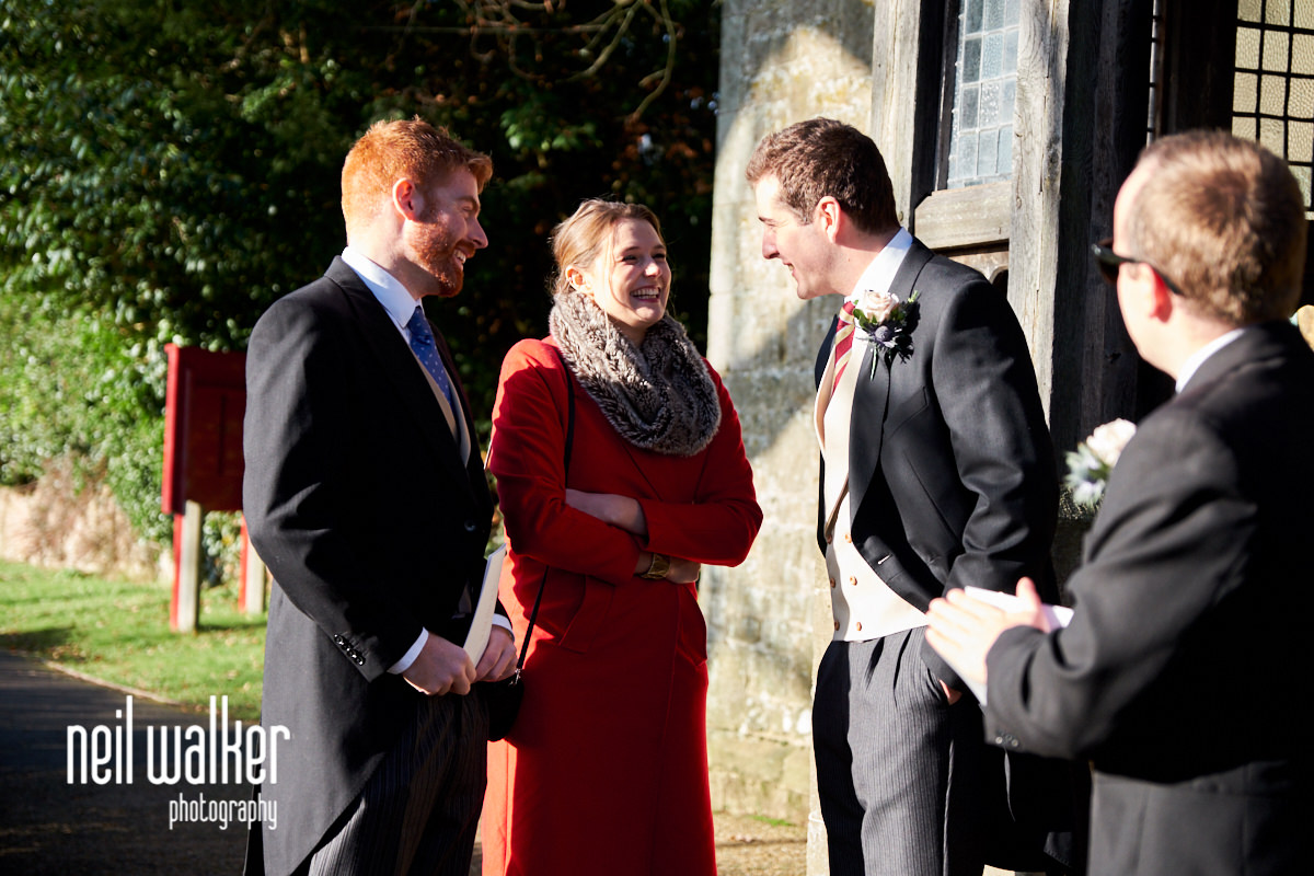 the groom with guests