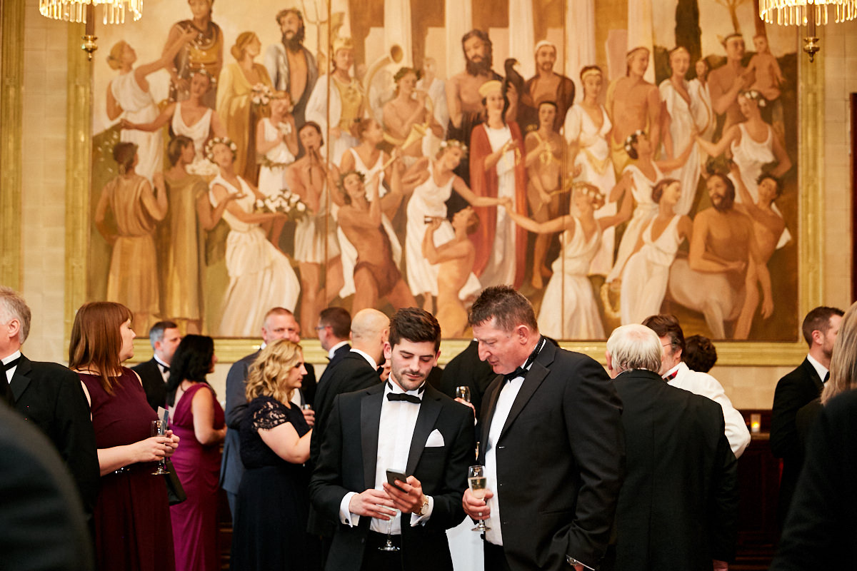 Guests talking at an event at the Royal Horseguards Hotel in London