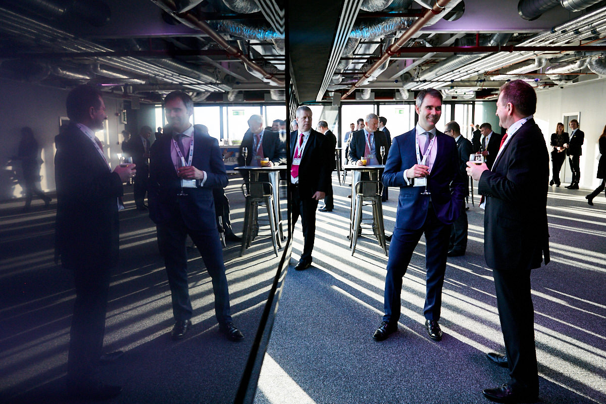 guests talking at an event at 42 Leadenhall