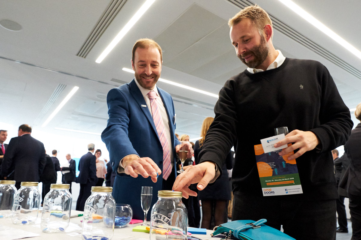 guests playing a game at a London event