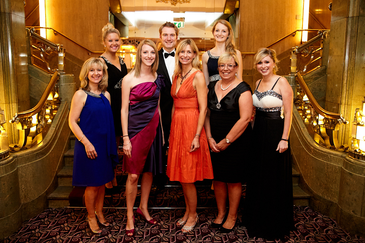 a group shot of staff at an event at The Sheraton Grand London Park Lane