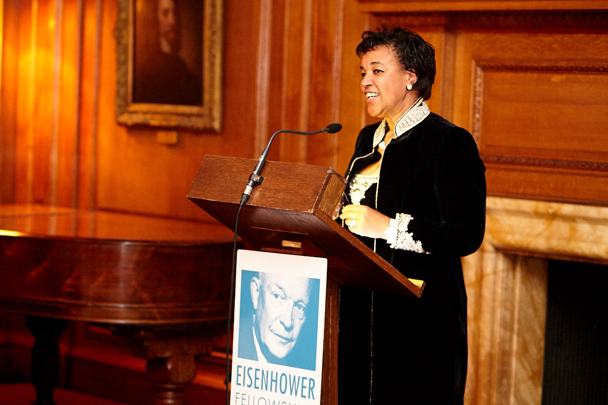Baroness Scotland talking at an event at The Honourable Society of the Inner Temple in London