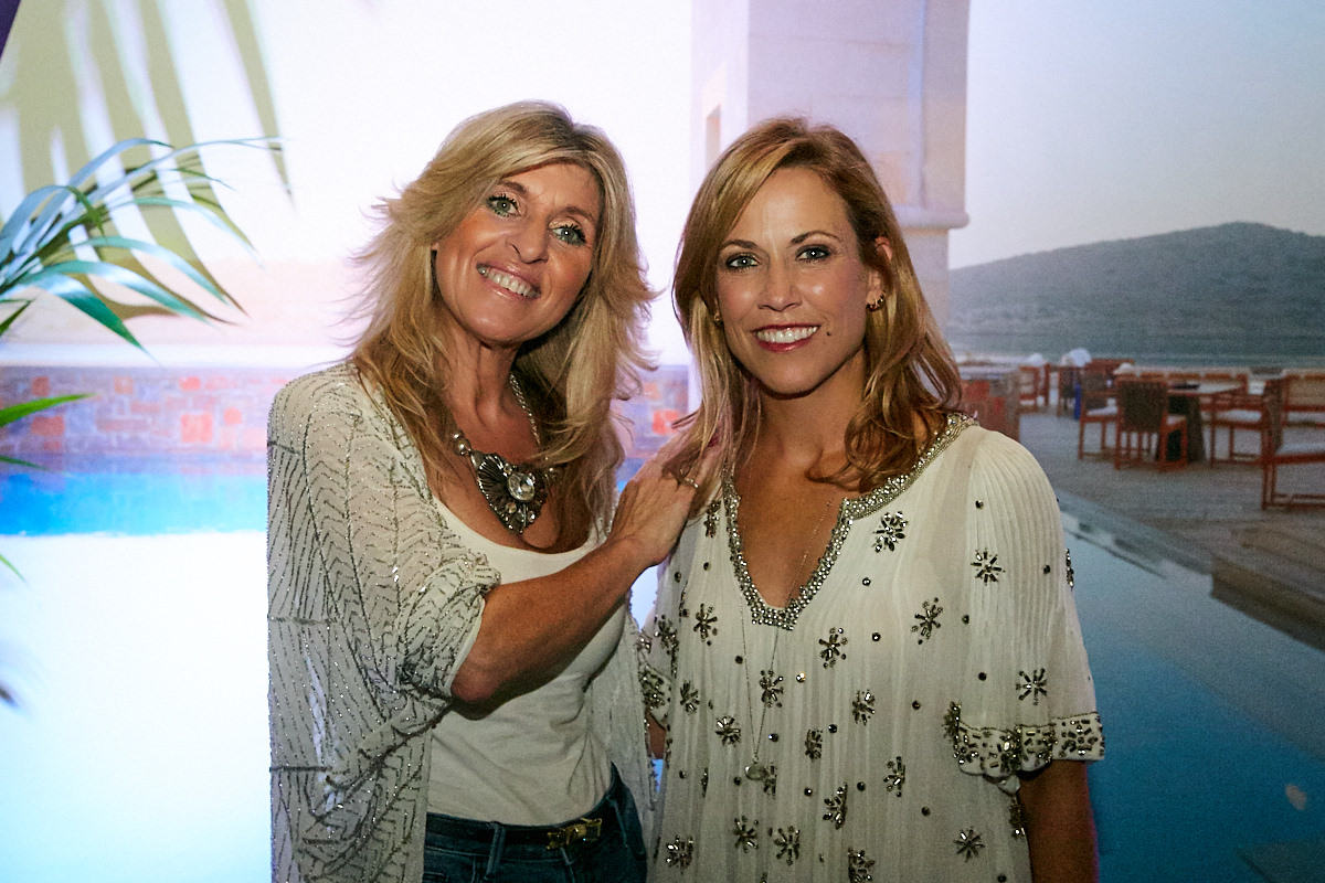 A portrait of Sheryl Crow with a guest