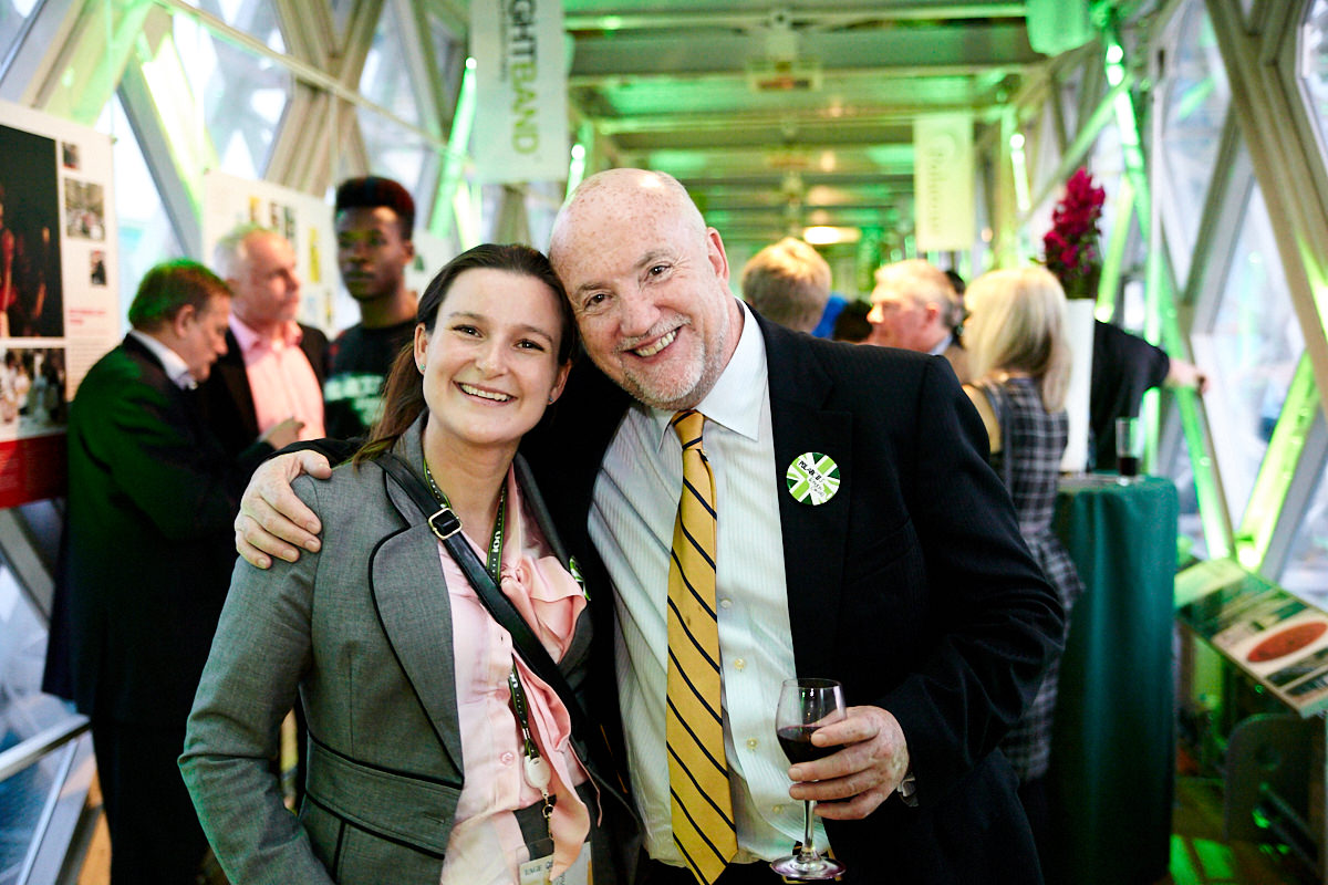 guests smiling at an event at Tower Bridge in London