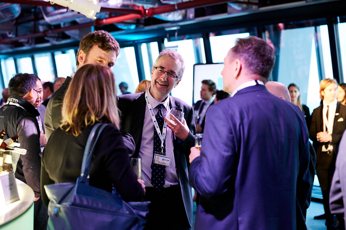 guests talking at an event at 42 Leadenhall in London