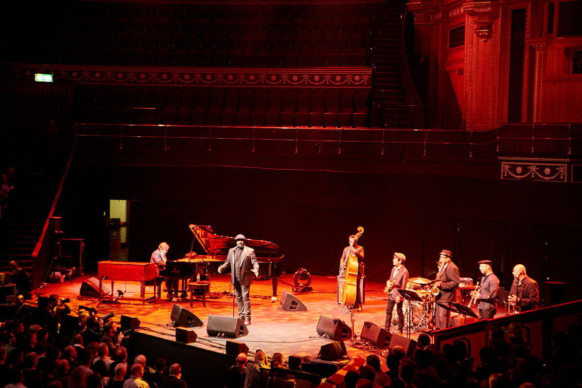 Gregory Porter performing at the Royal Albert Hall