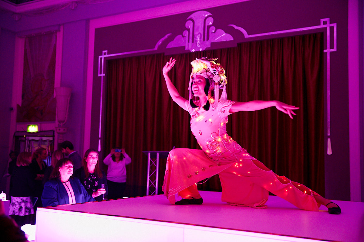 a performer at an event at The Sheraton Grand London Park Lane in London