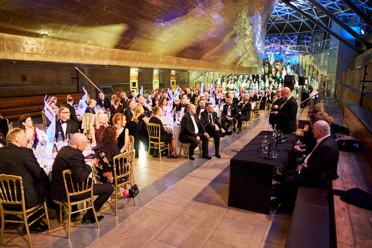 The CEO of TUCO talks to guests at The Cutty Sark in London