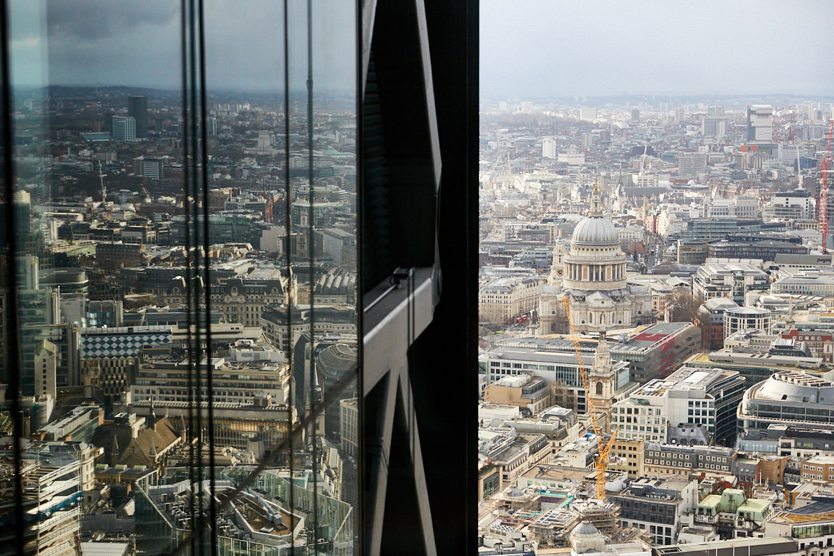 a view of St Paul's Cathedral from 42 Leadenhall in London