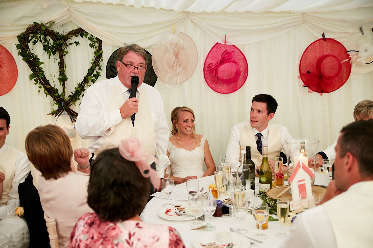 the father of the bride speech at this Sussex wedding