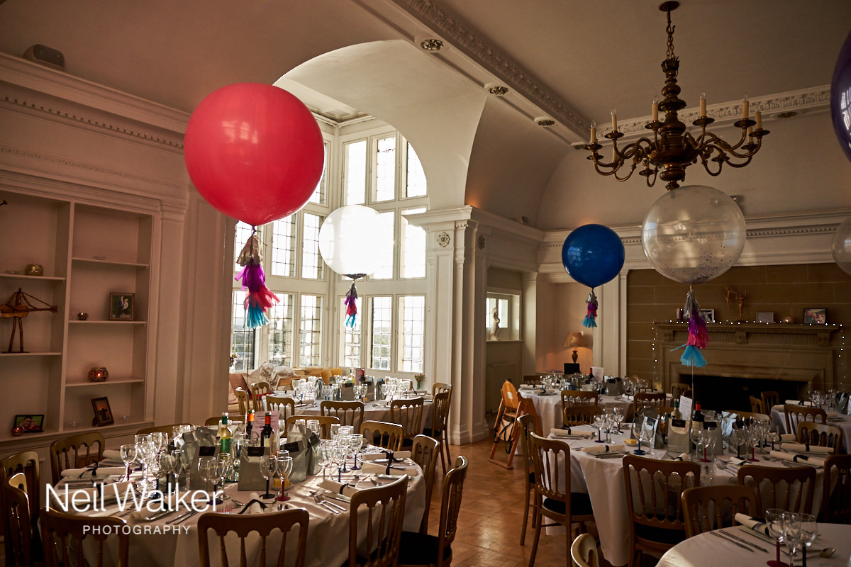 the Drawing Room at this Greyfriars House wedding ready for the wedding meal