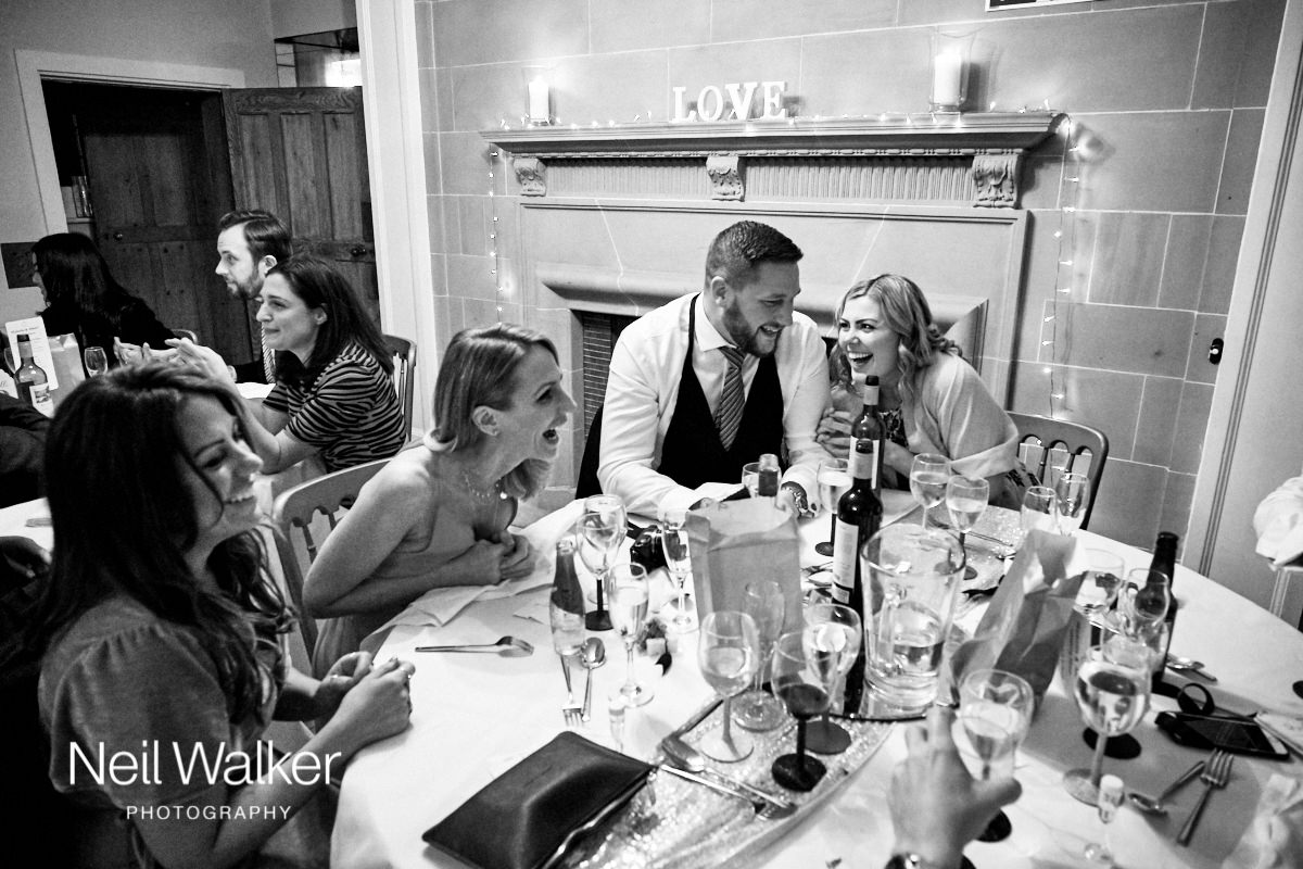 guests having fun together at this Greyfriars House wedding