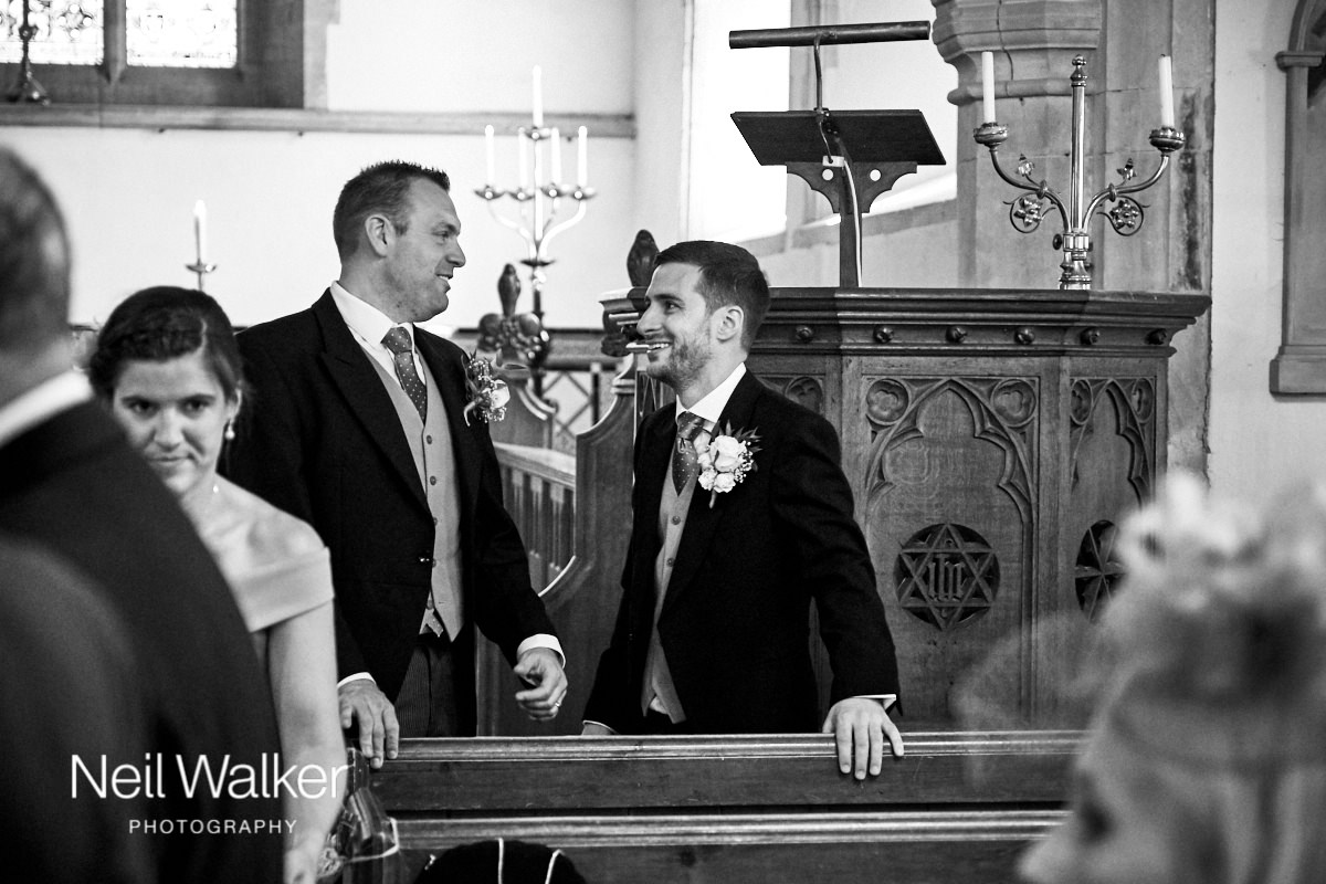 the groom in the church