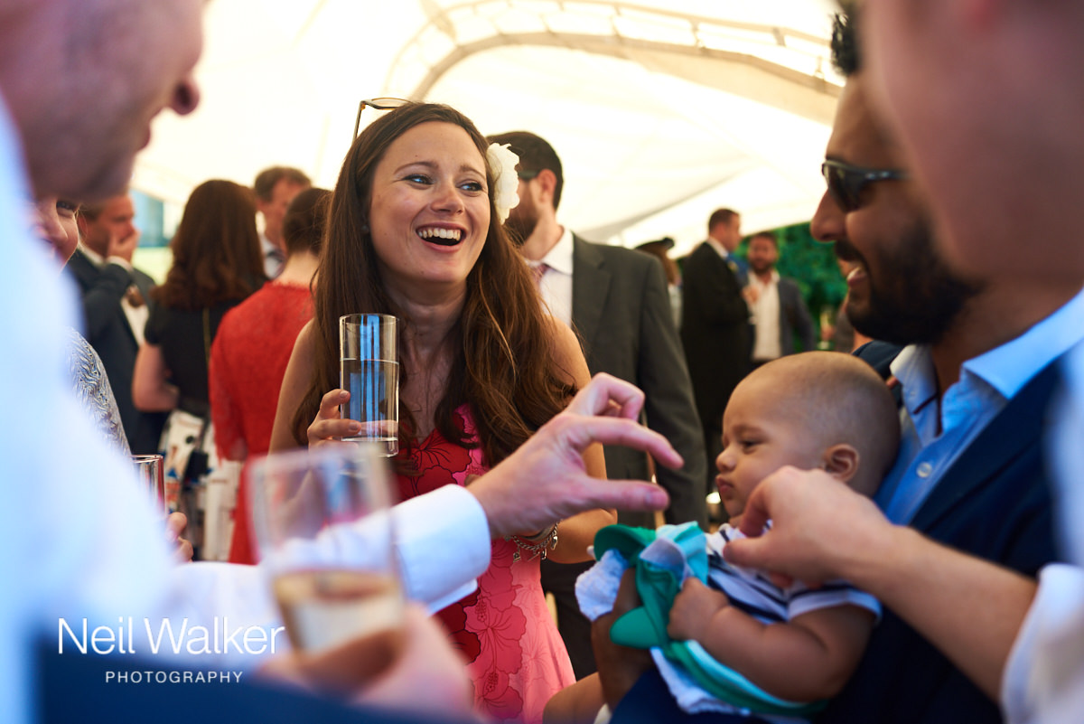 guests with a baby