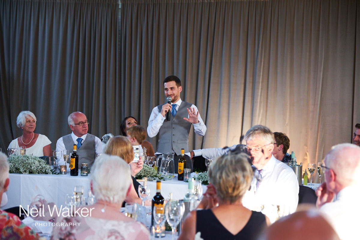 the groom's speech at the wedding breakfast