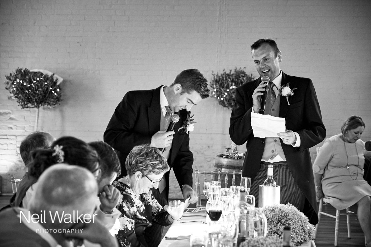 the best man during his speech