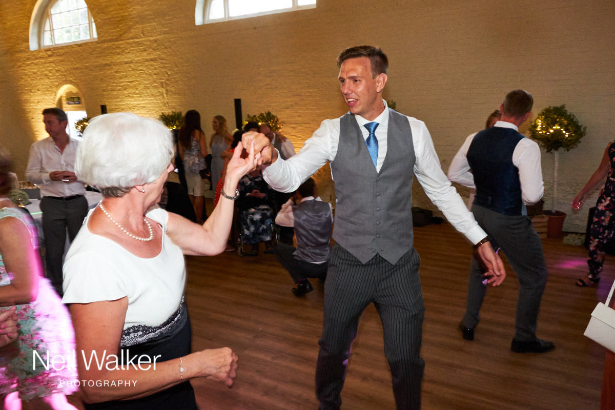 guests dancing at a Sussex wedding