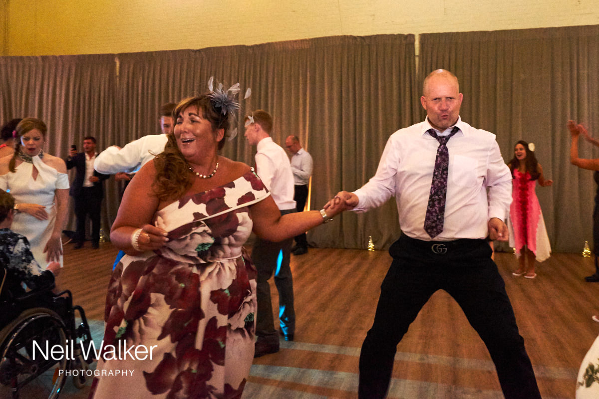 guests enjoying dancing at a wedding