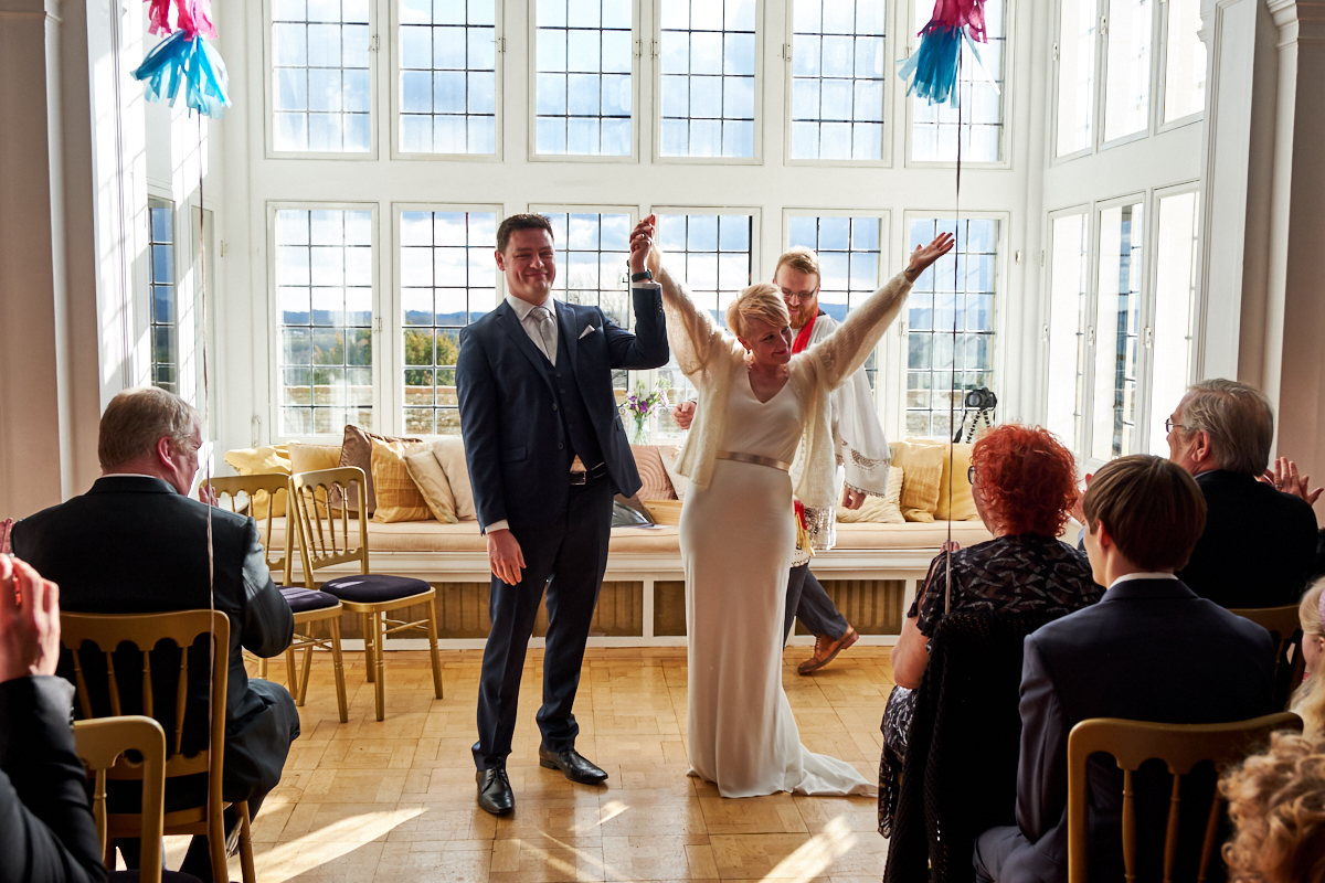 A bride getting married in a Sussex wedding venue